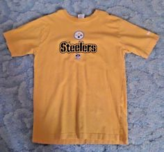 Boys size 14 16 reebok nfl pittsburgh steelers yellow short sleeve shirt a3cbcd54b