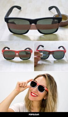 Sure, plain black sunglasses get the job done, but with Summer and weekend festivities right around the corner, you should kick your eyewear up a notch. Ahead is a supersimple DIY that will update any frames you have.