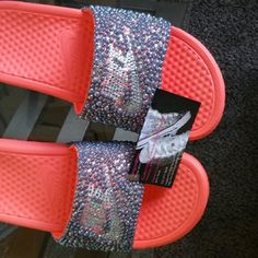 3fc77412cb32b Custom made nike slides Nike Slides Nike Shoes Sandals Fashion Clothes