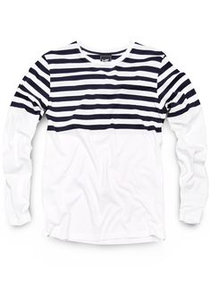 h.e. by mango                 if stripes make you look wider...will this shirt make my chest look bigger and my waist look smaller???