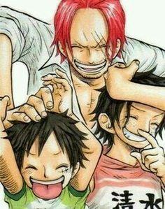 Ave,Luffy y Sanks