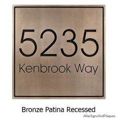 Bronze Patina with Recessed Details