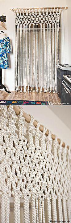 Makrome Örgü...<3 Deniz <3 Diy Crafts, Curtains, Cl, Braids, Home Decor, Crafts, Bang Braids, Blinds, Cornrows