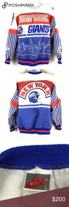 ad28c1f3a Vintage Nike NY Giants NFL Sweatshirt Mens Large Vintage Nike New York  Giants Crewneck Sweatshirt.