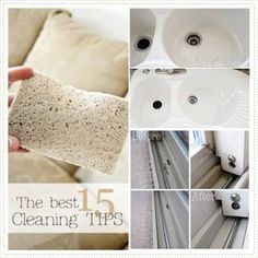 The 15 Best Cleaning Tips-The carpet stain remover one is my favorite!