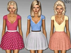 Sims  Addictions: Sims 3 Frilly Spring Dress