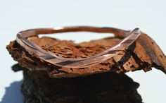Copper Cut Bangle, Copper Bracelet, Copper Jewelry, Hand Polished Bangle,Stacking Bangle, Hand Waxed Bangle, Unisex Jewelry, Patina Jewelry by CreationsBydeNice on Etsy