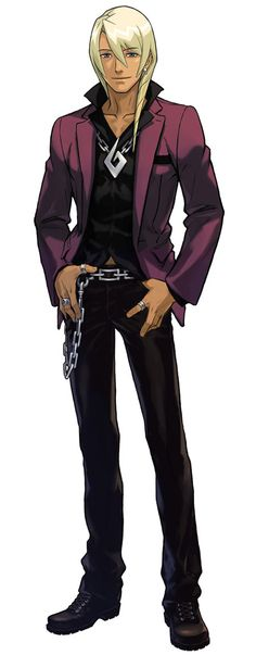 """Klavier Gavin. """"Chaotic good' younger brother of Kristoph. Prosecutor/Rock musician. Totally likes to flirt with Ema."""