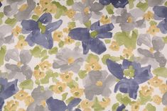 14.7 Yards Robert Allen Evanthey Flora Printed Cotton Drapery Fabric in Greystone. This printed fabric is perfect for window treatments, decorative pillows, handbags, light duty upholstery applications...