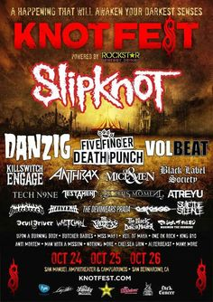 Slipknot, Volbeat, Five Finger Death Punch, saw this at Avenged concert. Oct in San Bernadino 😃 Tour Posters, Band Posters, Festival Posters, Concert Posters, Maximum The Hormone, Killswitch Engage, Butcher Babies, Rockstar Energy Drinks, Tech N9ne