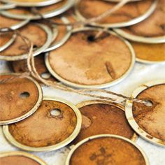 Aged tags using walnut ink.  Think I will also try tea dyeing.