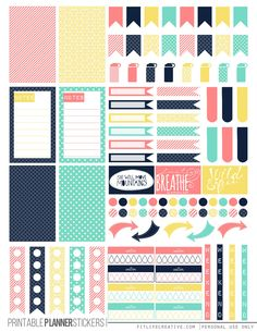 Free Printable Spring Pastel Planner Stickers from Fit Life Creative