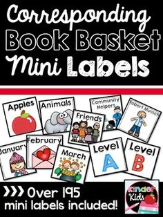 This product has all you need to complete your cute and organized classroom library! Included are 198 mini book basket labels that correspond to any the book basket products in our store . ***Please note: These labels were created to be used with Avery 5160 labels.
