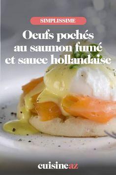 Une recette facile d'œufs pochés au saumon fumé à servir en entrée chaude avec sa sauce hollandaise. #recette#cuisine #oeuf #saumonfume #saucehollandaise #oeufpoche