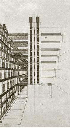 antonio sant'elia drawings | Futurist Architecture: Drawings of Antonio Sant'Elia | Mistlab
