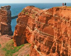 hiking with a view in #Helgoland, Germany...via  Nicole Fransen Millard