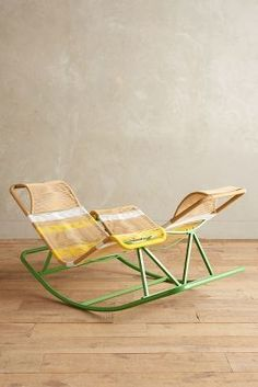 Dual Rocking Chair (Above). Grab a friend and a cup of tea and rock your way to relaxation in this face- to-face double rocker. Unique Furniture, Home Furniture, Furniture Design, Outdoor Furniture, Backyard Furniture, French Furniture, Classic Furniture, Traditional Sofa, Deco Design