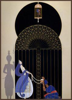 Erte  Bird in a Gilded Cage