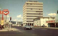 This is a pic from #PrinceGeorge 1970, does anyone remember PG Motors being there? #TBT Motors, Multi Story Building, Prince, Street View, Motorbikes