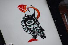 native american puffin art alaska