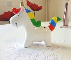 He is clearly a Unicorn! Our  office Mascot awaiting a name.
