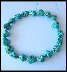 450CT Natural Old Turquoise Gemstone Polished Rough Beads Strand For Jewelr