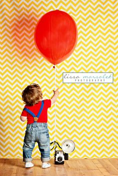 Chevron backdrop with and adorable little boy photoshoot | suspender pants: H | Lissa Marsolek Photography love this one!