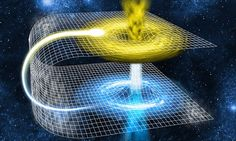 A wormhole is a type of bridge that could form when space time is folded. While wormholes have never been observed, A researcher at Ohio State University said that they could exist.