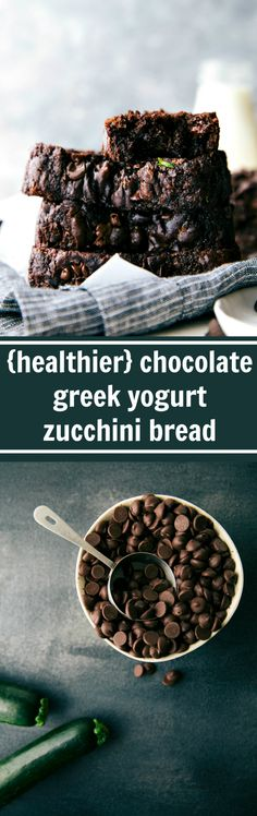 I didn't use any coconut oil substituted with apple sauce. Chocolate Greek Yogurt Zucchini Bread made with healthier ingredients and lower sugar! Healthy Baking, Healthy Desserts, Just Desserts, Delicious Desserts, Dessert Recipes, Yummy Food, Healthy Milk, Milk Recipes, Healthy Fats