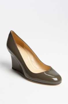 Wedge pump by Kate Spade ($298, Nordstrom). Pretty in grey. Also in black.
