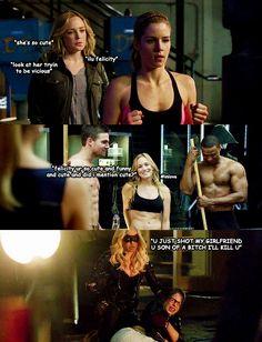 Arrow - Sara & Felicity #2.14 #Season2