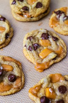Salted Caramel Chocolate Chip Cookies. I think we all know how I feel about salted caramel.