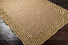 Sisal-look outdoor area rug looks fresh, yet classic with the greek key border. Dwell On Design, Greek Key, Outdoor Area Rugs, Sisal, Home Accessories, Sweet Home, Modern, Furniture, Color