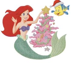 DISNEY The Little Mermaid ARIEL AND PRINCE ERIC CHRISTMAS HOLIDAY ...