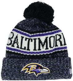 47824cb9515 New Era Boys  Baltimore Ravens Sport Knit Hat Knit Hat For Men