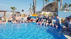 Der Pool im Club Papaya am Zrce Beach in Novalja, Kroatien #clubpapaja #novalja #zrce #kroatien #maxtours #pool