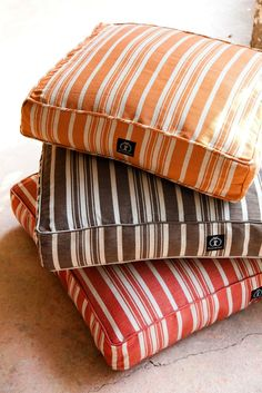 Hemp Stripe Rectangle Dog Bed - Harry Barker