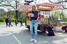 Claartje Rose, Dutch Blogger, Tommy Hilfiger, hotdog