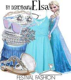 Disney Bound: Elsa Festival Fashion (Frozen)
