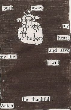 Blackout poem and picture Found Poetry, Blackout Poetry, Poetry Art, Wreck This Journal, Poem Quotes, Greek Quotes, Pics Art, Altered Books, Writing Tips