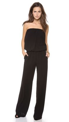 Ramy Brook's strapless jumpsuit is sexy and elegant! The long, flowy pants give you a taller appearance and should be worn with high heels. Ramy Brook Jenny Jumpsuit, $425