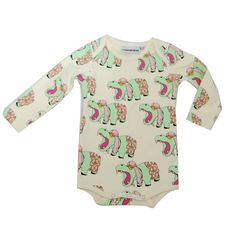 Gardner and the Gang Long Sleeve Onesie - hippo love! Gardner And The Gang, Long Sleeve Romper, Baby Bodysuit, Organic Cotton, Onesies, Kids Fashion, Cool Outfits, Rompers, Lady