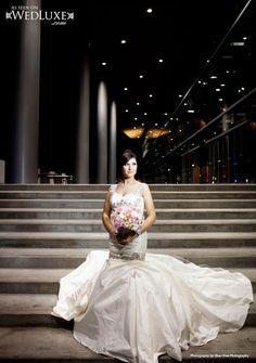 @Ines Di Santo wedding dress / Blue Olive Photography