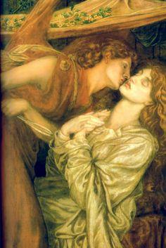Dante Gabriel Rossetti - Dante's Dream at the Time of the Death of Beatrice (1871) - Google Search