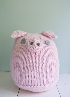 Whit's Knits Pig Pink Pig http://www.purlbee.com/the-purl-bee/2012/8/24/whits-knits-big-pink-pig.html