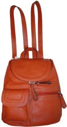 Women s Tignanello Pebble Leather Multi Pocket Backpack Burnt Orange.   139.00 What a HOT Tignanello Backpack!! 03acc20ec01e7