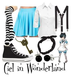 Ciel in wonderland. Casual Cosplay, Cosplay Outfits, Anime Outfits, Bad Girl Outfits, Cool Outfits, Fashion Outfits, Women's Fashion, Ciel Phantomhive Cosplay, Anime Inspired Outfits