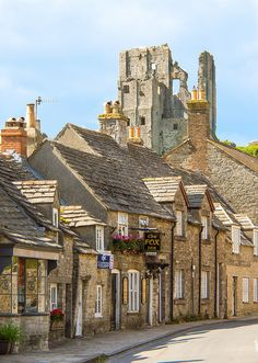 Corfe Castle, Dorset, England I reckon one of the best street village castle views in the country