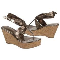 $68.99 CARLOS BY CARLOS SANTANA Sun Sandals Pewter Women`s Sandals class