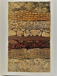 a collagraph printing plate by Patricia Daugherty Collages, Collage Art, Collagraph Printmaking, Gelli Printing, A Level Art, Aboriginal Art, Texture Art, Zentangle, Art Lessons